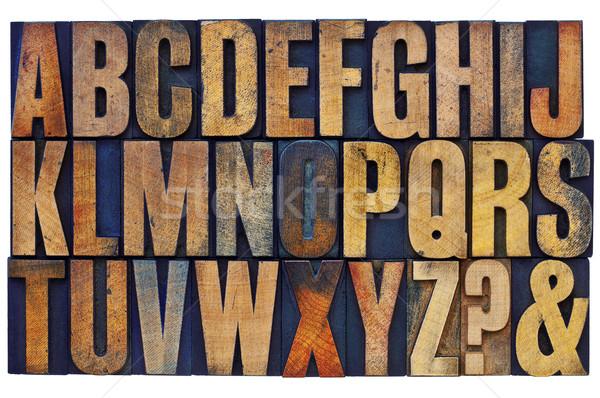 alphabet in letterpress wood type blocks Stock photo © PixelsAway