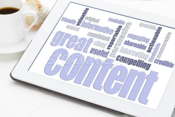 great content word cloud Stock photo © PixelsAway