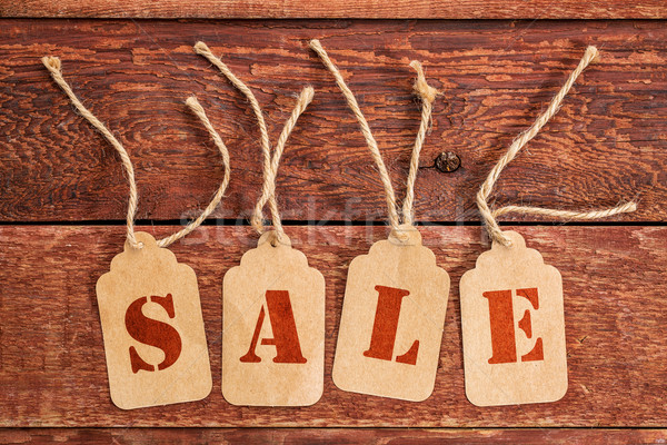 sale sign  on  price tags Stock photo © PixelsAway