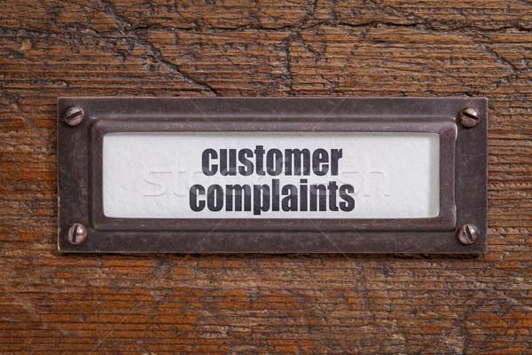 customer complaints  -  file cabinet label Stock photo © PixelsAway