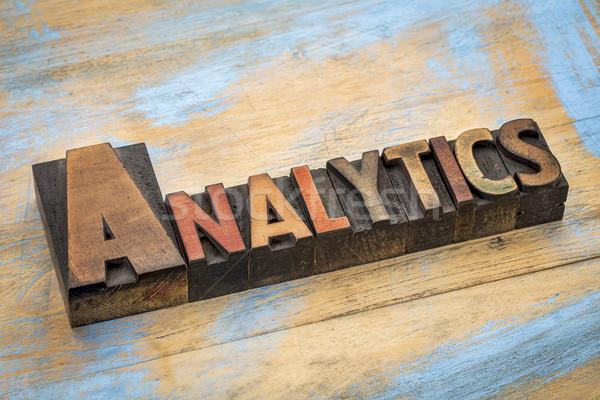 аналитика древесины тип баннер слово аннотация Сток-фото © PixelsAway