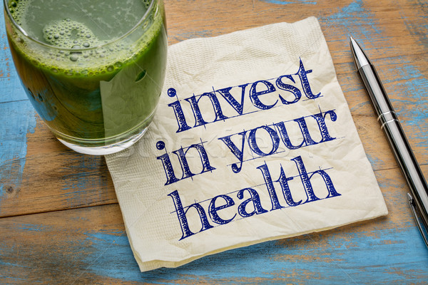 invest in your health advice Stock photo © PixelsAway