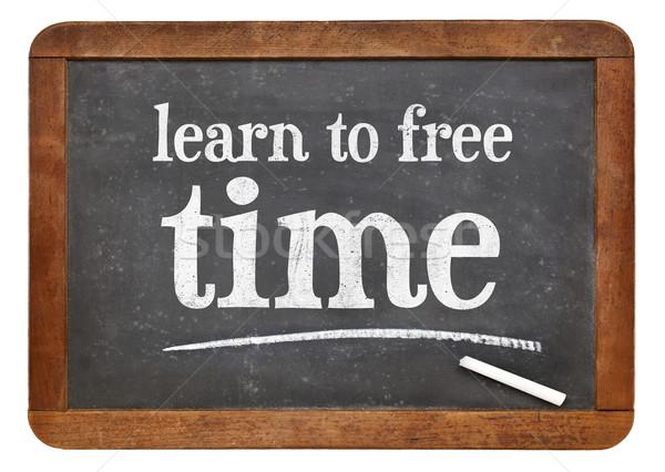 学ぶ 自由時間 黒板 にログイン 白 チョーク ストックフォト © PixelsAway