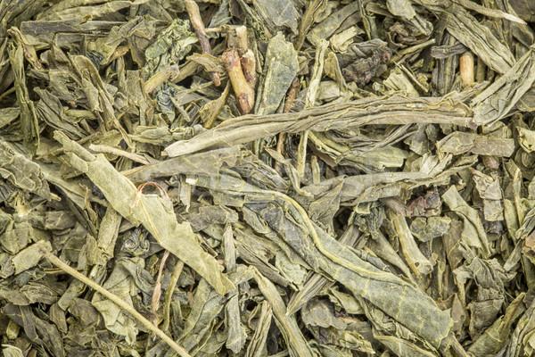 Zöld tea háttér textúra bő levél textúra tea Stock fotó © PixelsAway