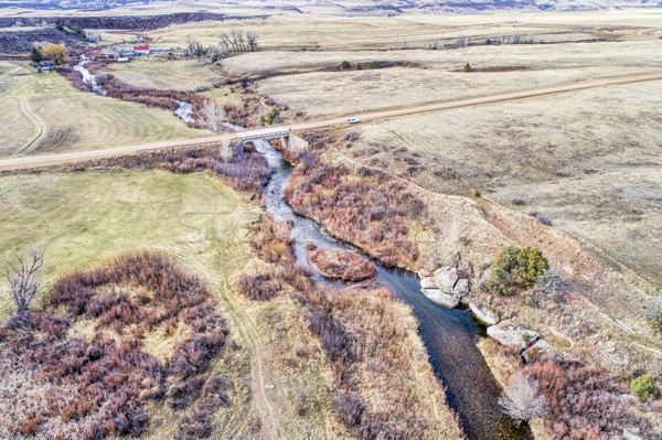 river at Colorado foothills - aerial view Stock photo © PixelsAway