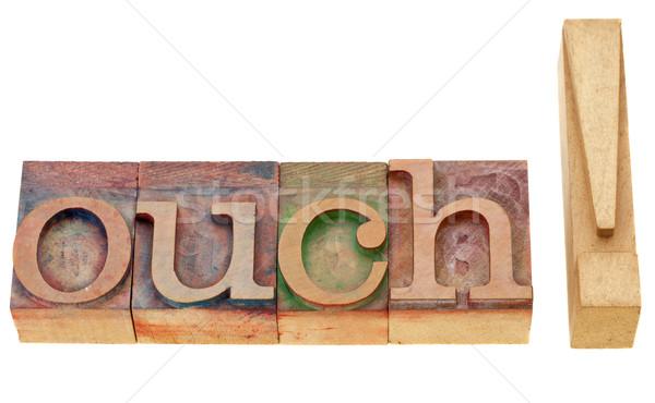 Ahi tipo isolato parola vintage Foto d'archivio © PixelsAway