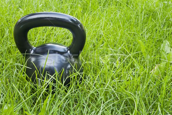 鉄 ケトルベル 草 黒 緑の草 ストックフォト © PixelsAway