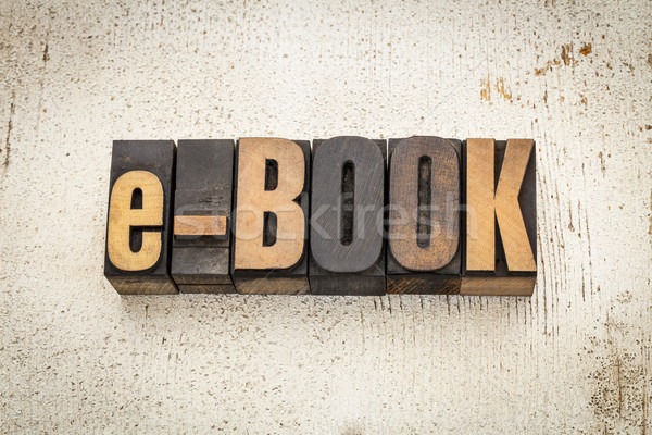 Ebook palavra madeira tipo vintage Foto stock © PixelsAway