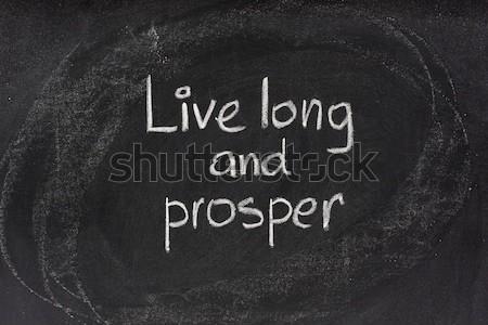 Live lang Blackboard versie traditioneel religieuze Stockfoto © PixelsAway