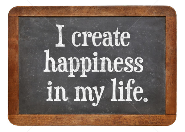 I create happiness in my life Stock photo © PixelsAway