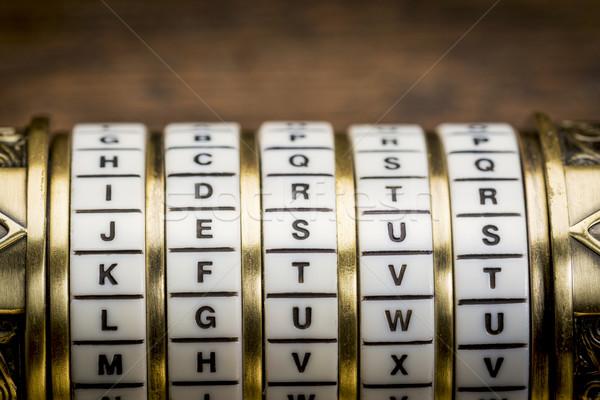Иисус слово пароль комбинация головоломки окна Сток-фото © PixelsAway