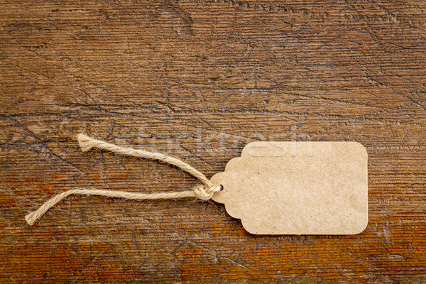 Papel en blanco precio etiqueta rústico madera Foto stock © PixelsAway