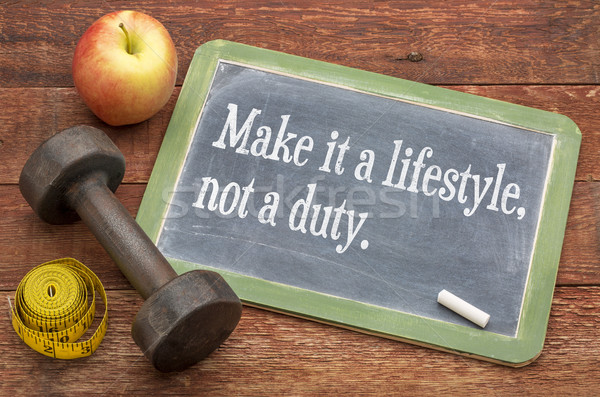 Gyártmány életstílus nem kötelesség fitnessz egészséges élet Stock fotó © PixelsAway