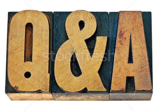 Domande risposte legno tipo acronimo isolato Foto d'archivio © PixelsAway
