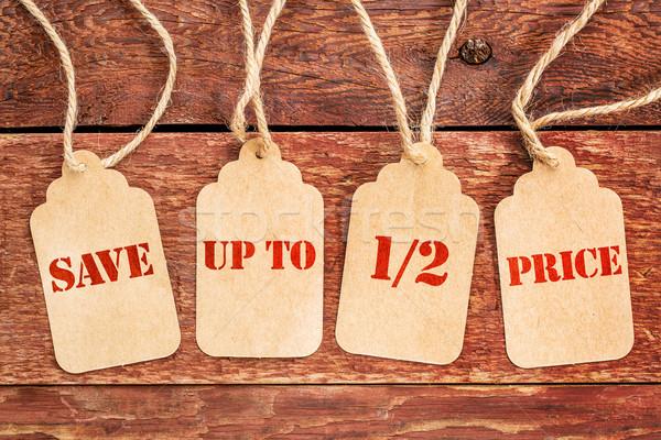 Mettre up prix bannière signe Photo stock © PixelsAway