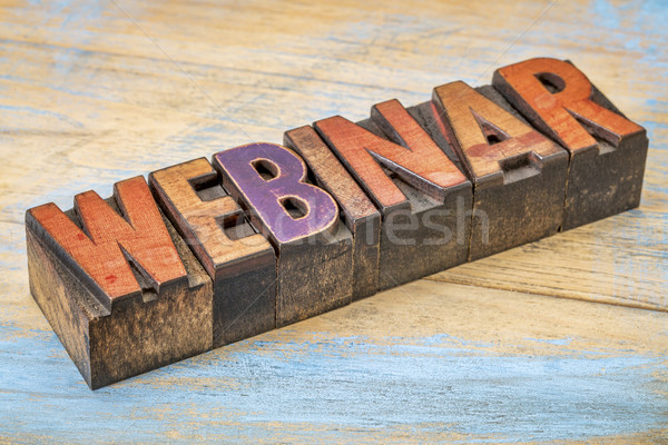 webinar word in wood type Stock photo © PixelsAway