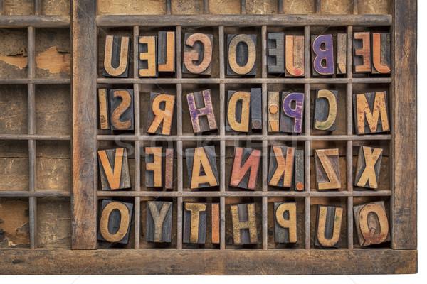 wood type printing blocks  Stock photo © PixelsAway