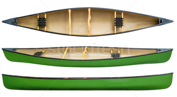 green tandem canoe isolated Stock photo © PixelsAway