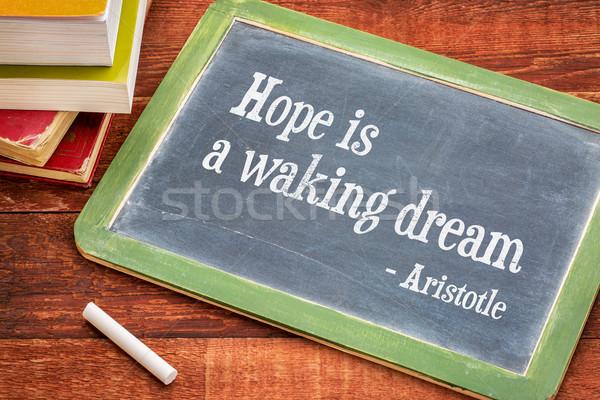 Speranza sogno citare testo lavagna bianco Foto d'archivio © PixelsAway