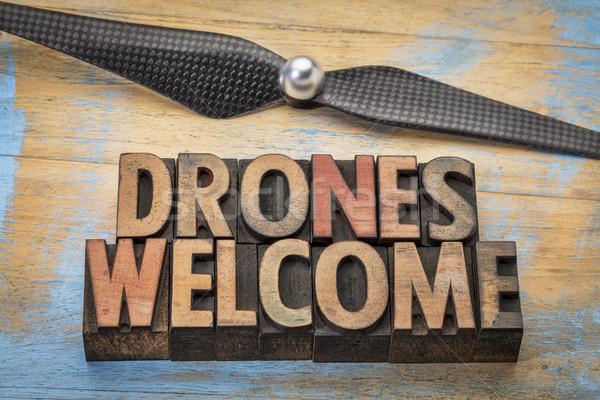 drones welcome word abstract  Stock photo © PixelsAway