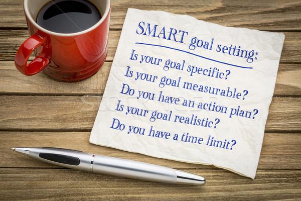 SMART goal setting - napkin concept Stock photo © PixelsAway