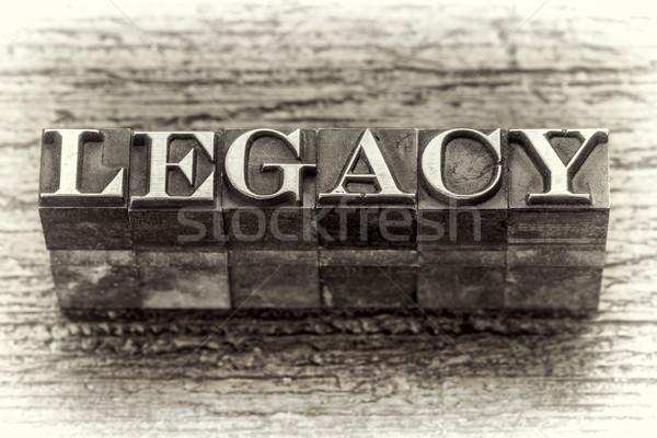 örökség szó magasnyomás fém vegyes Stock fotó © PixelsAway
