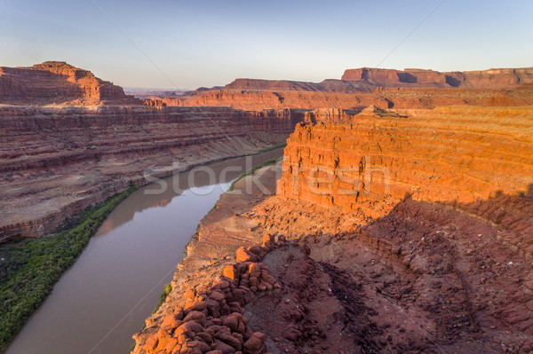 Canyon of Colorado River - sunrise aerial view Stock photo © PixelsAway
