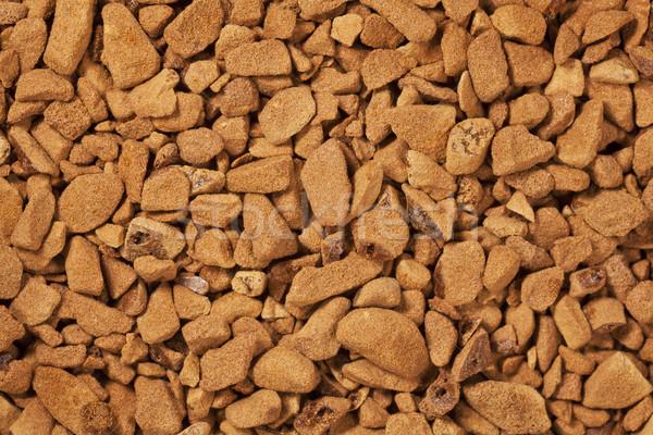 Instant kávé háttér gabona közelkép száraz por Stock fotó © PixelsAway