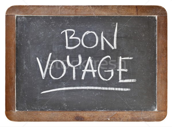 bon voyage on blackboard Stock photo © PixelsAway