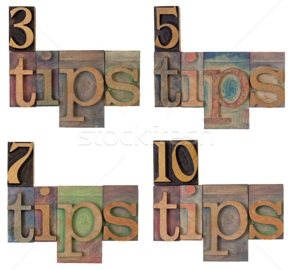 tips - headline of a list Stock photo © PixelsAway