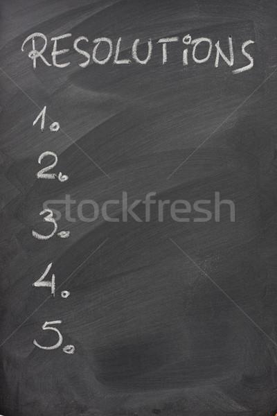 Zdjęcia stock: Listy · tablicy · pięć · biały · kredy