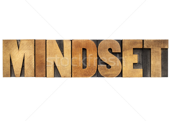 mindset word in wood type Stock photo © PixelsAway
