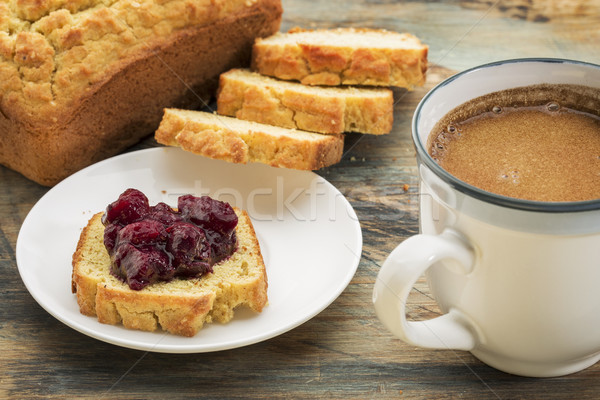 Sin gluten desayuno pan coco almendra harina Foto stock © PixelsAway