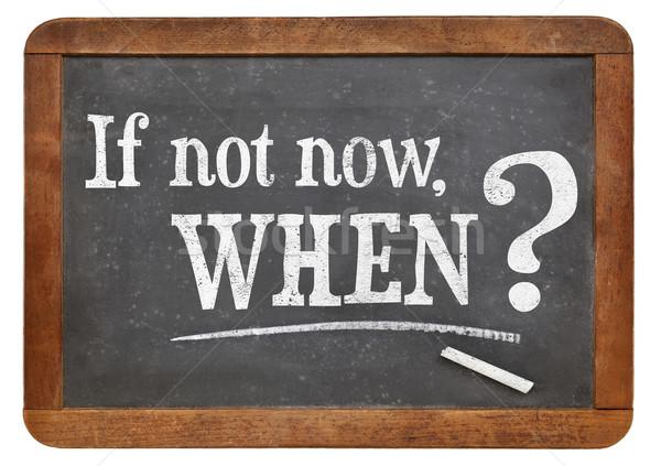 Nem most kérdés hívás tevékenység döntés Stock fotó © PixelsAway