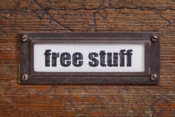 free stuff  - file cabinet label Stock photo © PixelsAway
