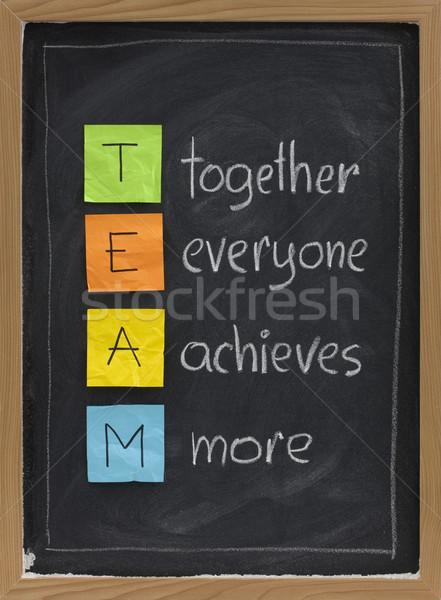 Teamwerk Blackboard team acroniem samen iedereen Stockfoto © PixelsAway