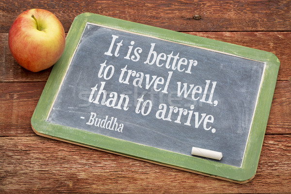 Buddha citaat reizen leven beter goed Stockfoto © PixelsAway