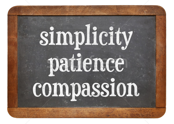 Simplicity, patience and compassion Stock photo © PixelsAway