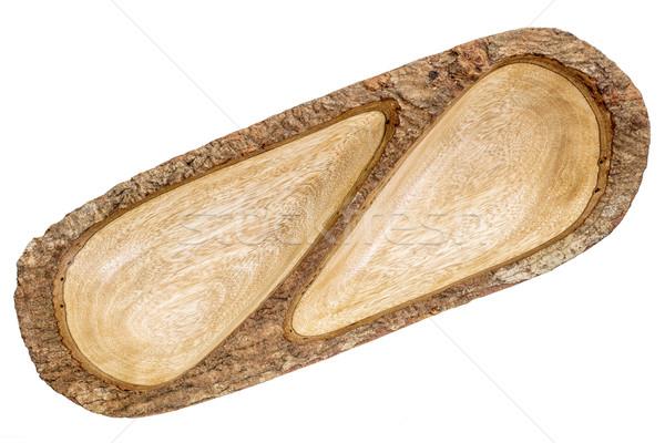 empty mango wood split tray Stock photo © PixelsAway