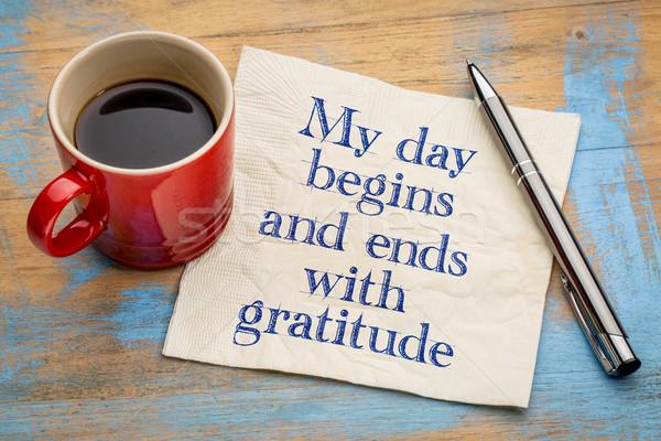 Meu dia gratidão positivo palavras letra Foto stock © PixelsAway