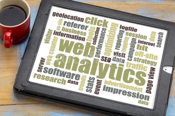 web analytics word cloud Stock photo © PixelsAway