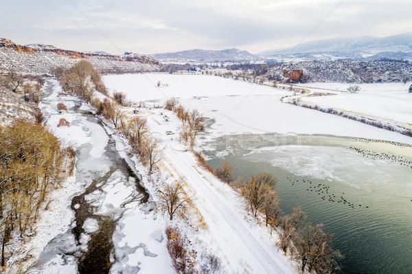 Rivier Colorado meer water gevogelte luchtfoto Stockfoto © PixelsAway