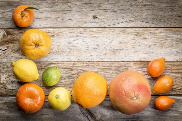 цитрусовые коллекция выветрившийся древесины оранжевый лимона Сток-фото © PixelsAway