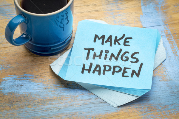 Coisas inspirado nota motivacional lembrete Foto stock © PixelsAway