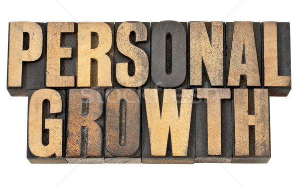personal growth in wood type Stock photo © PixelsAway