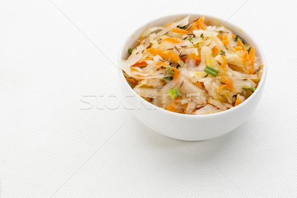 Zuurkool salade wortel karwij olijfolie Stockfoto © PixelsAway