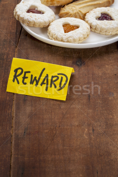 Cookies premiare piatto grunge tavolo in legno legno Foto d'archivio © PixelsAway