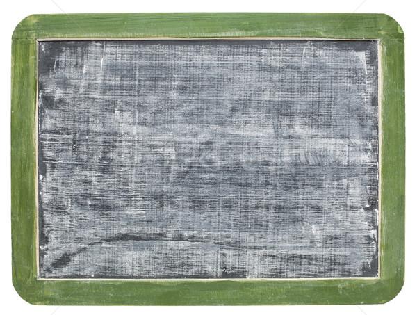 Stok fotoğraf: Beyaz · tebeşir · doku · tahta · bağbozumu · yeşil