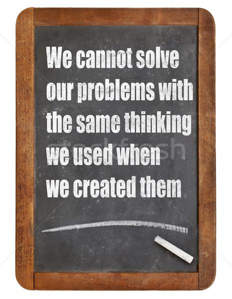 Problémamegoldás gondolkodásmód megold problémák gondolkodik használt Stock fotó © PixelsAway