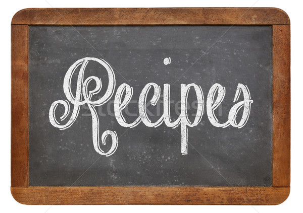recipes word on blackboard Stock photo © PixelsAway